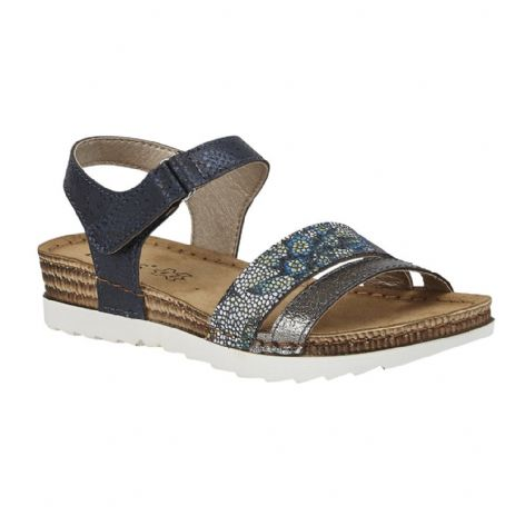 Lotus Womens Prato Navy Velcro Sandals